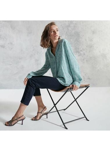 Yargıcı Kadın Ceket Yaka Gömlek 0KKGM6041X319 Yeşil